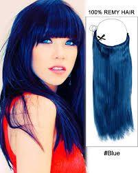 Bilderesultat for hair extensions blue