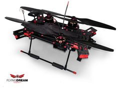 Flyingdream Drone (UAV) - Espace 680 - foldable frame - Quadricopter with 3DRobotics Pixhawk
