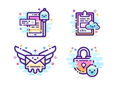 Line gradient illos designed by Pavel Kozlov. Connect with them on Dribbble; the global community for designers and creative professionals. Web Design, Vector Design, Icon Design, Vector Art, Logo Design, Graphic Design, Flat Design, Outline Illustration, Best Icons