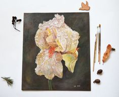 "Unkown Title, Mensura Zoili, acrylic, .19"" x 14"""