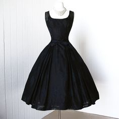 Vintage 1950s Dress, Gorgeous by Designer Evelyn Love