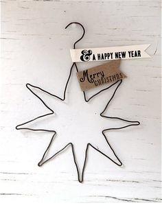 Schöne Deko für Geschenke und den Tannenbaum! Drahtanhänger mit acht süßen, unterschiedlichen Motiven.