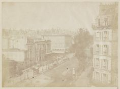 William Henry Fox Talbot (British, 1800–187). View of the Boulevards at Paris, May 1843. The Metropolitan Museum of Art, New York. Gift of Jean Horblit, in memory of Harrison D. Horblit, 1994 (1994.197.1 (2)) #paris