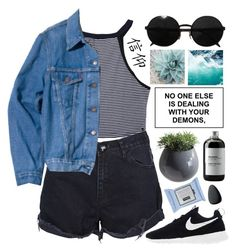 """""""#481 Sunny day"""" by mia5056 ❤ liked on Polyvore featuring One Teaspoon, Levi's Vintage Clothing, Versace, NIKE, KEEP ME, Sort of Coal, Dot & Bo and Christian Dior"""