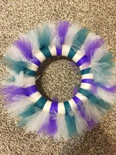 Custom Tulle Wreath, Sports Wreath, Wedding, Kids Room, Holiday Wreath, Nursery Wreath, College Team, Office Decorations, Personalized by DoorDecorNMoreByNoel on Etsy