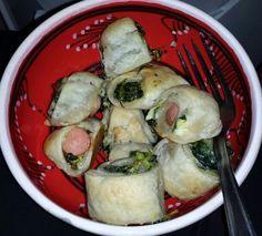 Feuilleté saucisse, épinards et mascarpone