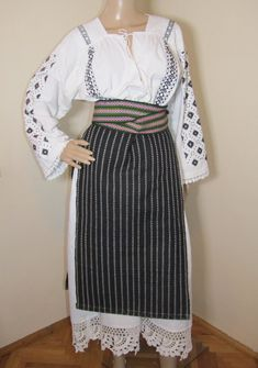 Banat old costume Waist Skirt, High Waisted Skirt, Traditional, Costumes, Skirts, Clothing, Handmade, Vintage, Outfits