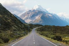road to Mt Cook, New Zealand