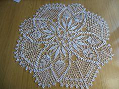 """Napperon crochet """"Aube """" coloris blanc : Textiles et tapis par logique"""