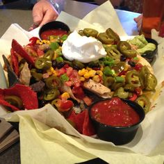 Fully loaded airport nachos at Bloody Mary's, San Diego Airport