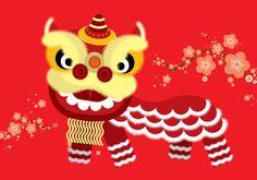 lion dance vector by lyeyee on Creative Market