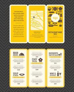 Modern Restaurant Menu Design Pamphlet Template Stock Vector - Illustration of brochure, chef: 57478709 Cafe Menu Design, Menu Card Design, Food Menu Design, Restaurant Menu Design, Restaurant Restaurant, Stationary Design, Restaurant Identity, Vintage Restaurant, Pamphlet Template