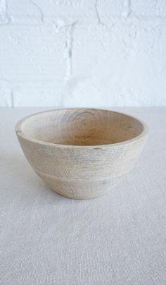 Round Mango Wood Bowl