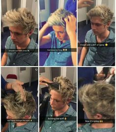 This is how Niall gets his perfect hair<<it's also perfect when he does nothing to is