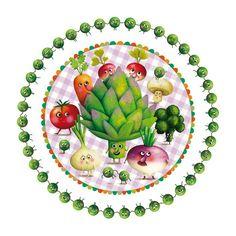 by Marie Desbons #vegetable #illustration #design
