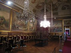 Waiting Room of the Ajuda National Palace in Lisbon, Portugal