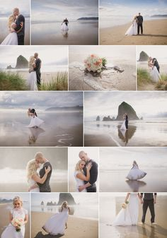 Oregon Coast Elopement, Cannon Beach Elopement Wedding, Beach Wedding, Oregon Elopement Photographer, Shannon Hager Photography Source by shannon_hager Beach Wedding Photos, Beach Wedding Photography, Pre Wedding Photoshoot, Wedding Shoot, Wedding Beach, Photographer Wedding, Wedding Tips, Wedding Pictures, Wedding Planning
