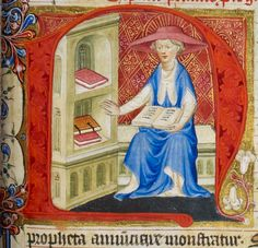 """There there, unread books. I'll get to you soon."" Royal MS 1 E IX f. 234r"