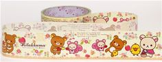 big pale yellow Rilakkuma in the forest Deco Tape squirrel
