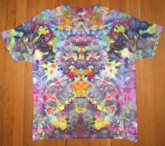 Psychedelic Tie Dye 3 part, this is part one on folding