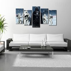 Star Wars: Darth Vader Painting - 5 Piece Canvas