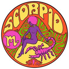 The perfect gift for your astrology-loving Scorpio friend! Choose Any two/four/six/twelve and just make a note at Checkout to let me know which Zodiac signs that you would like. Scorpio Art, Zodiac Signs Scorpio, Zodiac Art, Scorpio Signo, Purple Aesthetic, Aesthetic Art, Aesthetic Vintage, Rock Posters, Hippie Art