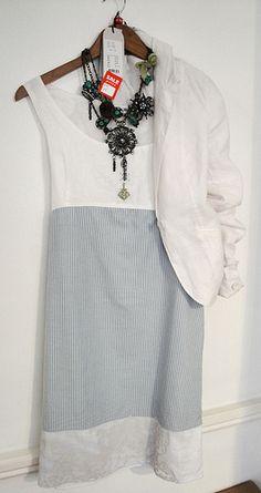 Elisa Cavaletti Dress £169.95/£84.95 Elisa cavaletti necklace £99.95 Noa Noa jacket £95/79 http://www.exivboutique.co.uk/item/3373/se50502-