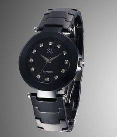 black ceramic watch for ladies