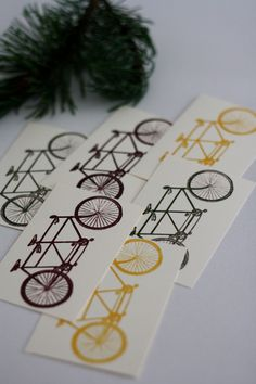 Into the Trees - Printable Tandem Bike Gift Tags / Name Tags / Stickers. $5.00, via Etsy.