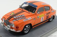 TECNOMODEL TM18-80C Scale 1/18 SAAB 96 V4 N 1 2nd RALLY SWEDEN 1975 S.BLOMQVIST - H.SYLVAN ORANGE Vintage Models, Rally, Diecast, Sweden, 18th, Scale, Boards, Orange, Weighing Scale