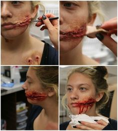 3 DIY Halloween Makeup Effects: Infected Zombie Bite, Burned Skin, and a Chelsea Grin - Halloween Costumes Blog