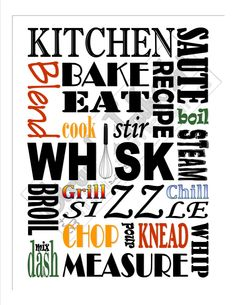 Kitchen subway art