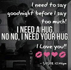 Good Night Love Quotes, Romantic Good Night, Good Night Sweet Dreams, Cute Love Quotes, Love Quotes For Him, Emoticon, Emoji, I Need Your Hug, Good Night Angel