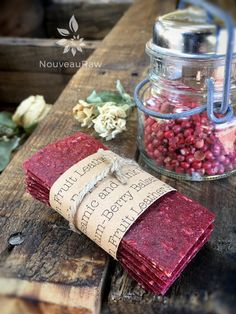 Plum-Berry Balsamic and Pink Peppercorn Fruit Leather (raw, vegan, gluten-free, nut-free)