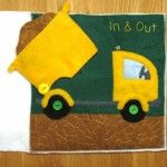 Quiet Book Page: Dump Truck (w/ template)