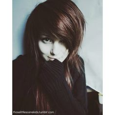 emo hair | Tumblr found on Polyvore