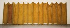 Expanded Expansion, 1969. Fiberglass, polyester resin, latex, and cheesecloth, 10 feet 2 inches × 25 feet (309.9 × 762 cm) overall. Solomon R. Guggenheim Museum, New York, Gift, Family of Eva Hesse, 1975, 75.2138. © Eva Hesse. Photo: David Heald (1986, New York)