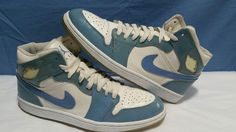 Nike Air Jordan 1 Retro Patent Leather sz 10 Vtg 2003 University Blue 136085-140 #Nike #BasketballShoes