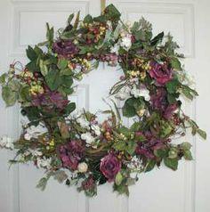 floral wreaths and swags   22 Sasha Silk Flower Wreath Dried Spring Door Wreaths