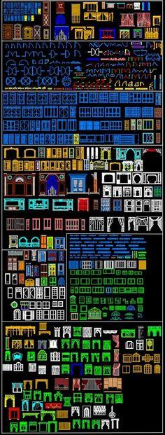 All Windows Curtain Blocks Bundle Bloc Autocad, Autocad 2010, Autocad Gratis, Cad Computer, Cad Blocks Free, Window Blocks, Hospital Architecture, Revit, Drawing Interior