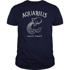 I Love Zodiac Astrology Sign Aquarius Water Horoscope T shirt Shirts & Tees