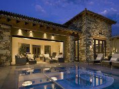 Tuscan Architecture in Estancia Golf Club Scottsdale.