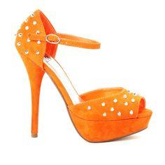 Fancy #shoes in summer #orange maybe these will take your fancy www.fancyshoeland.com