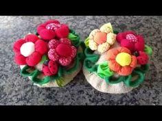 Como Fazer Boneca de Pano:Flor de Tecido com Rostinho- Mimado - YouTube