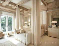 Marc Micheals interior design. Stunning neutrals give this bedroom a fresh feel.