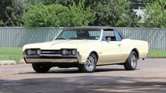 1967 Oldsmobile Cutlass Convertible for sale by Mecum Auction Amc Javelin, Oldsmobile Cutlass, Old Classic Cars, Lifted Ford Trucks, Abandoned Cars, Bugatti Veyron, American Muscle Cars, Collector Cars, Mopar