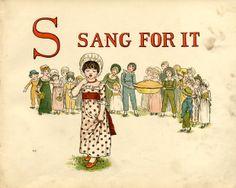 sang for it- Kate Greenaway