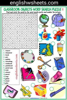 Classroom Objects Esl Printable Word Search Puzzle Worksheets For Kids #classroom #Objects #Esl #Printable #word #search #Puzzle #Worksheets #language #arts #languagearts
