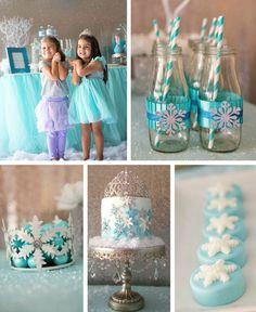 Frozen Wonderland Birthday Party via Kara's Party Ideas