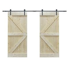 Natural Core Knotty Pine Solid Wood Panelled Slab Interior Barn Door - June 22 2019 at Double Sliding Barn Doors, Sliding Door Track, Sliding Closet Doors, Sliding Door Hardware, Wood Barn Door, Glass Barn Doors, Metal Barn, Wooden Doors, Barnwood Doors